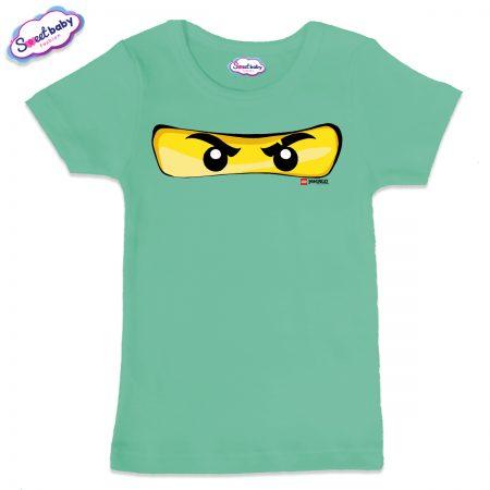 Детска тениска в цвят мента Маска Лего