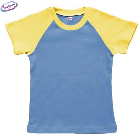 Детска тениска в жълто и синьо