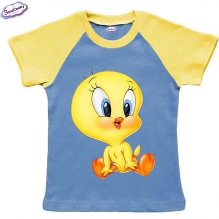 Детска тениска в жълто и синьо Litle tuiti