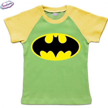 Детска тениска в зелено и жълто Батман