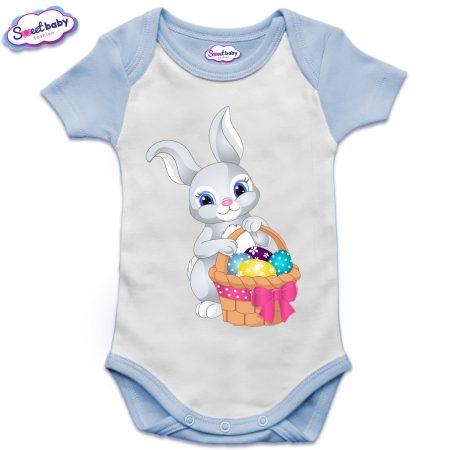 US бебешко боди с къс ръкав Зайче с шарени яйца