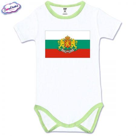 Бебешко боди с къс ръкав Българско знаме
