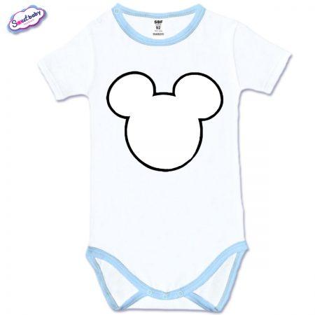 Бебешко боди със син кант Maus