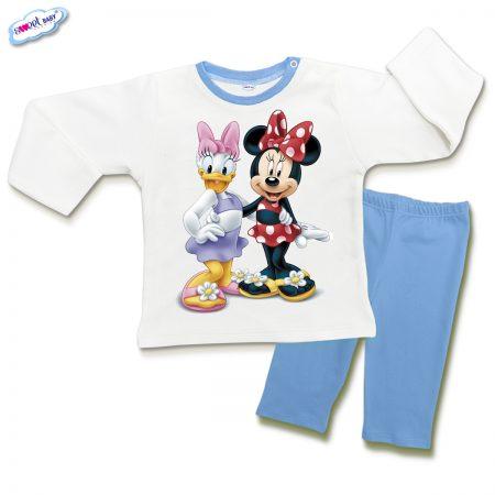 Детска пижамка в синьо и бяло Мини приятелки