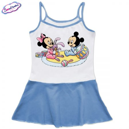 Детска рокличка с тънки презрамки Бебешки игри