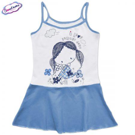 Детска рокличка с тънки презрамки Летни дни