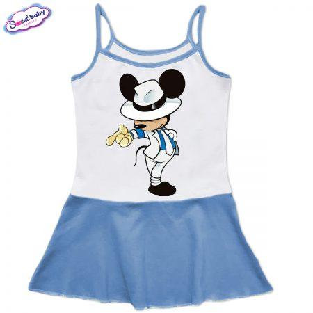 Детска рокличка с тънки презрамки Мики Майкъл