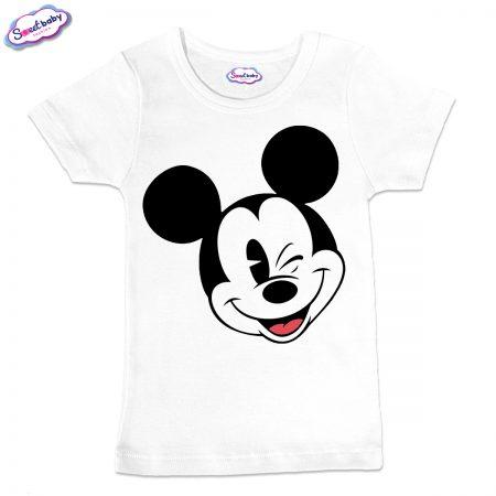 Детска тениска в бяло Мики