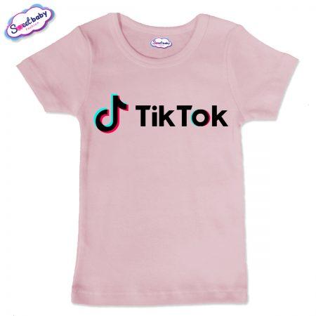 Детска тениска в розово цвят TikTok