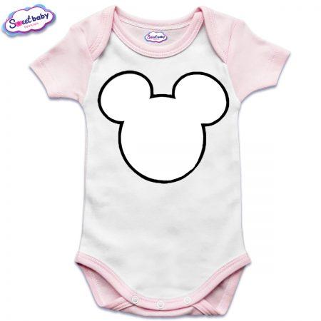 US бебешко боди в розово и бяло Maus