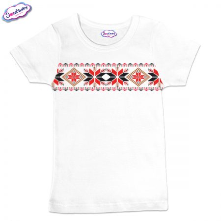 Детска тениска в бяло Шевицаа