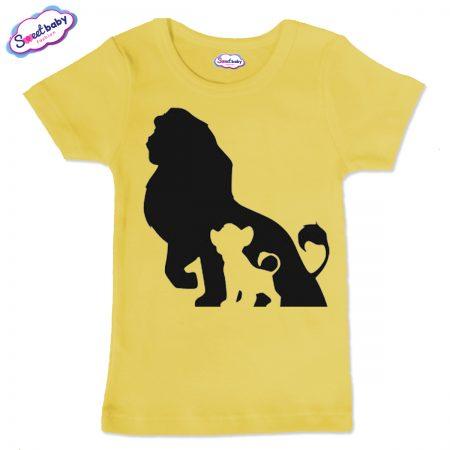 Детска тениска в жълт цвят Цар Лъв и Симба