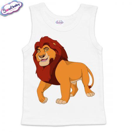 Детски потник в бяло Цар Лъв