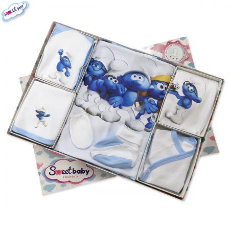 Комплект за изписване Смърфчета синьо10 1