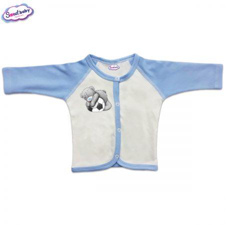 Бебешка жилетка с предно закопчаване Мечо футболист