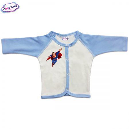 Бебешка жилетка с предно закопчаване Супермен в полет