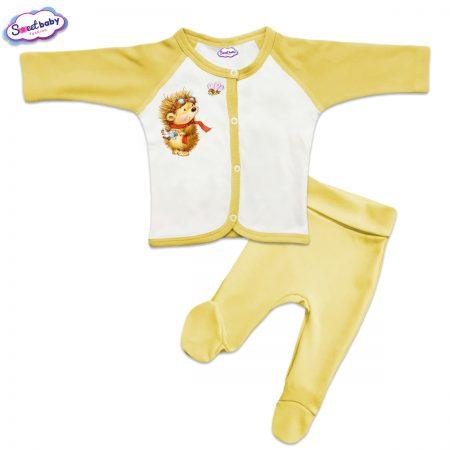 Бебешки сет в жълто Ежко и Пчеличка