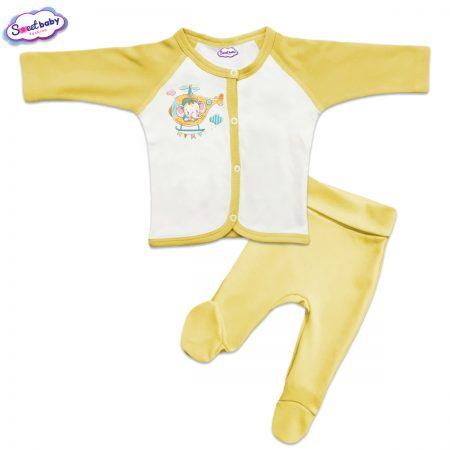 Бебешки сет в жълто Малкият летец