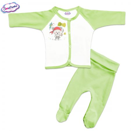 Бебешки сет в зелено Мечо пират