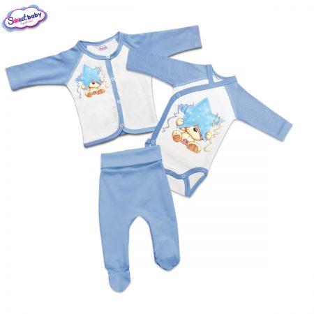 Бебешки сет Мече със синя звезда
