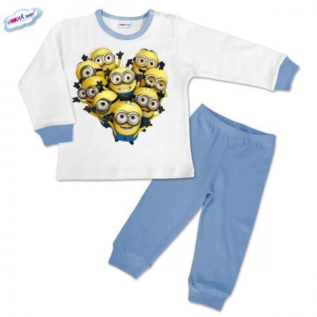 Детска пижамка в синьо Миньони