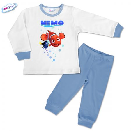 Детска пижамка в синьо Немо