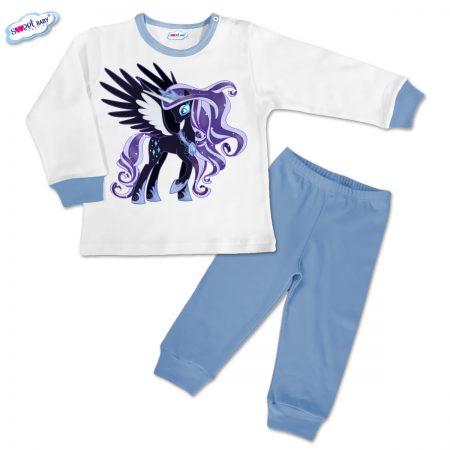 Детска пижамка в синьо Пони