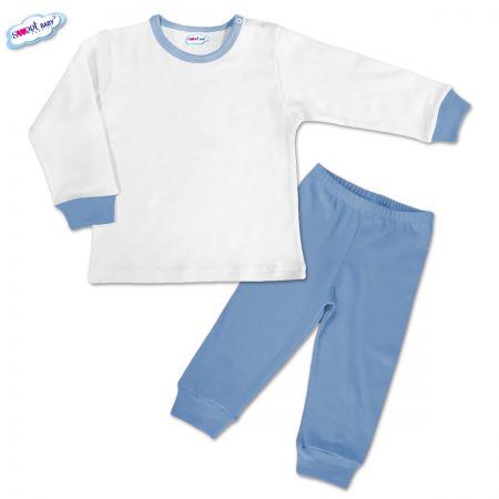 Детска пижамка в синьо и бяло