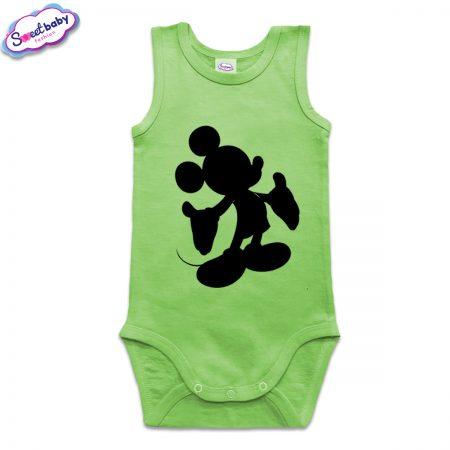 Бебешко боди в зелено Мики Halloween