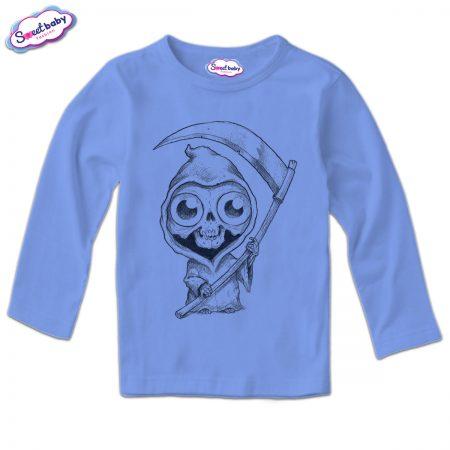 Детска блуза в синьо Halloweenn