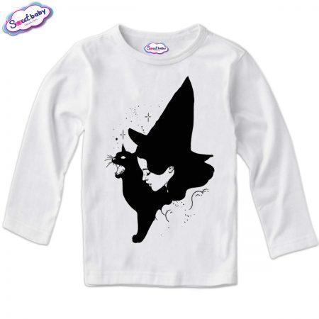 Детска блузка в бяло Вещица