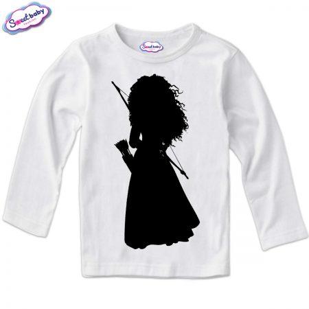 Детска блузка в бяло Мерида Halloween