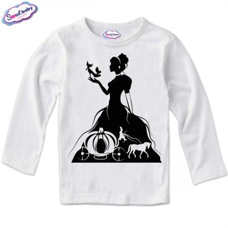 Детска блузка в бяло Пепеляшка Halloween
