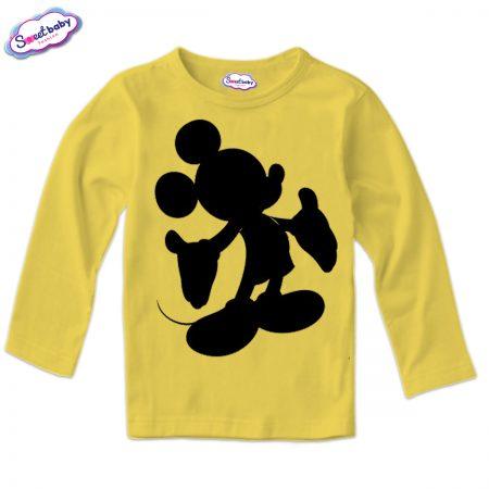 Детска блузка в жълто Мики Halloween