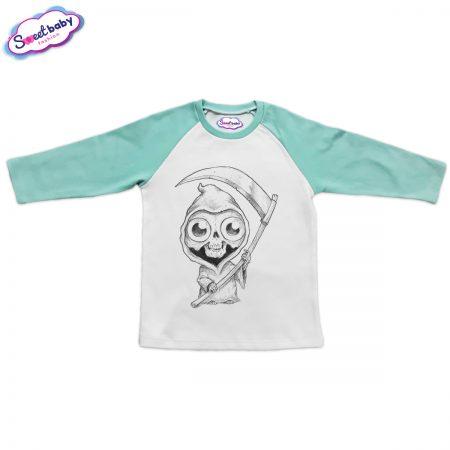 Детска блузка в мента Halloweenn
