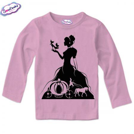 Детска блузка в розово Пепеляшка Halloween