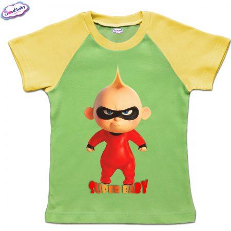 Детска тениска в зелено SUPER BABY