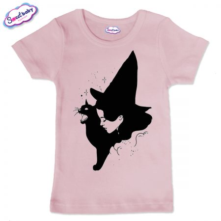 Детска тениска в розово Вещица