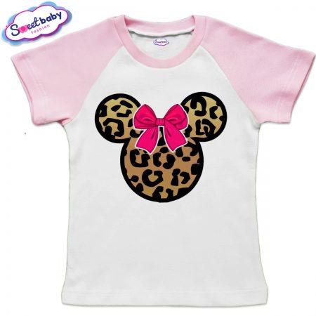 Детска тениска в розово Мини маска