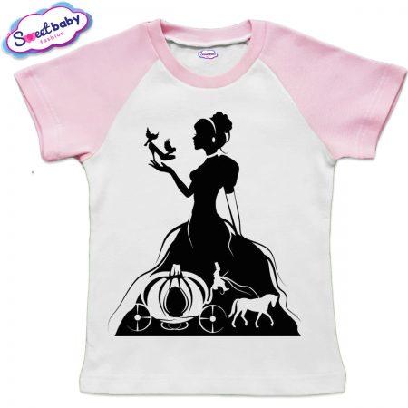 Детска тениска в розово Пепеляшка halloween