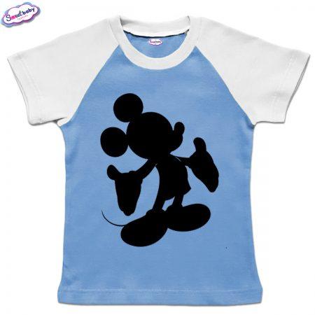 Детска тениска в синьо Мики halloween