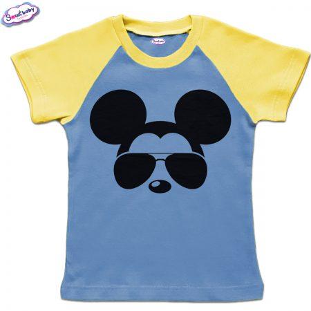 Детска тениска в синьо и жълто Микицайс