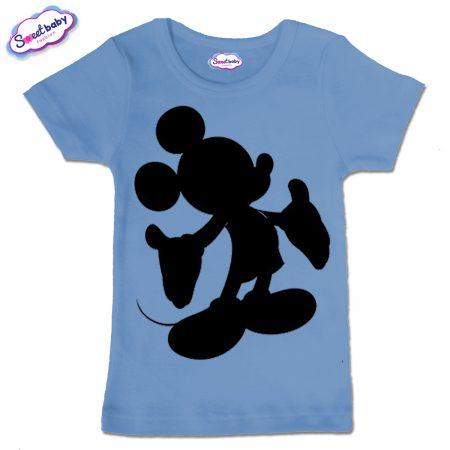 Детска тениска в син цвят Мики halloween