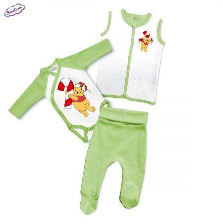 Бебешки зелен сет Коледен Пух