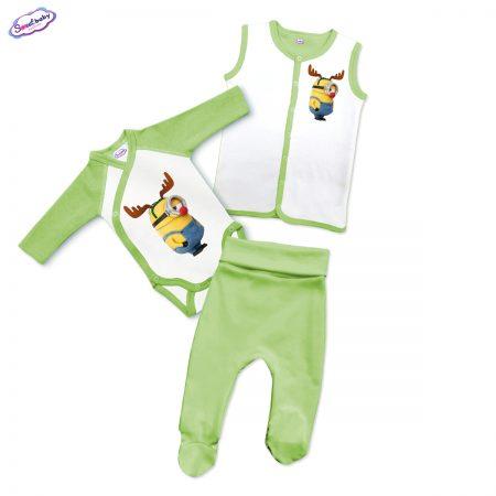 Бебешки зелен сет Миньон с рогца