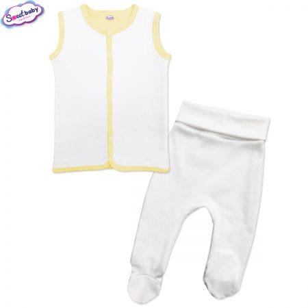Бебешки сет в бяло и жълто
