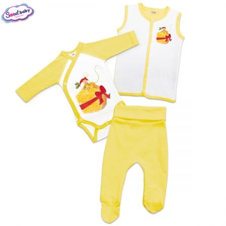 Бебешки сет в жълто Подарък за мишлето