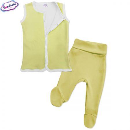Бебешки сет в жълто и бяло