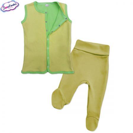 Бебешки сет в жълто и зелено