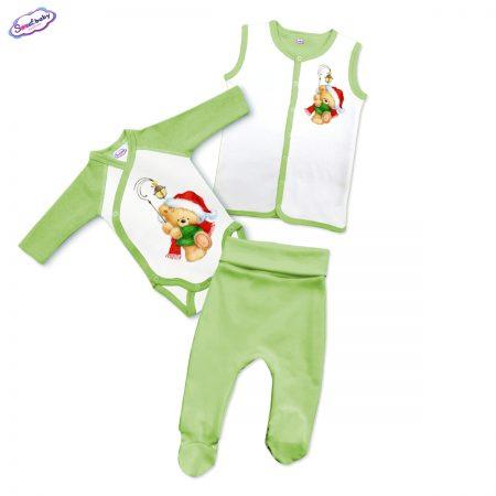 Бебешки сет в зелено Коледен мечок
